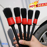5Pcs Car Detailing Brush Set Cleaning Natural Boar Hair Multifunction