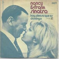 "NANCY & FRANK SINATRA 7""PS Spain 1971 Feelin' kinda sunday"