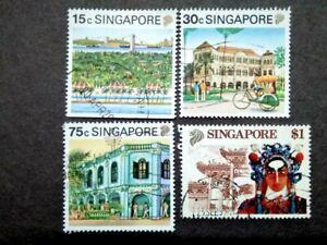 Singapore 1990 Tourism Loose Set Up To $1 - 4v Used #2