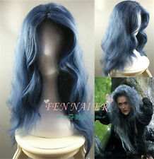 Newest Disney Movie Into the Woods Long Wavy Grey Witch Wig Anime Cosplay Wig