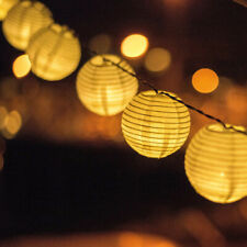 Led White Lantern String Lights Outdoor Light Decoration for Festival Party Cour