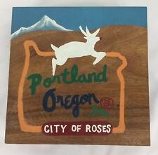 Ironwood Gourmet Sushi Plate With Feet Painted Portland Oregon City of Roses