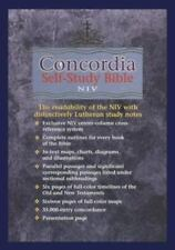 Concordia Self Study Bible: Black Bonded Leather With Thumb Index