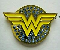 Wonder Woman Bejewelled Logo Enamel Pin - DC Comics, New