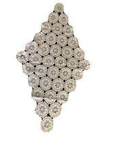 Vintage Handmade Crochet Table Cloth