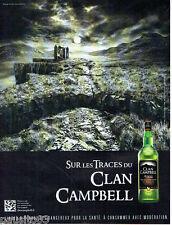 PUBLICITE ADVERTISING 086  2012  sur les traces  clan Campbell  whisky écosse 2