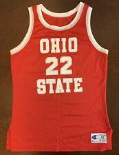 e92e17b38ee7 Rare Vintage Champion Ohio State Buckeyes Jim Jackson Basketball Jersey