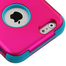 2014 * for APPLE iPhone 6 (4.7-inch) PINK TEAL TUFF SKIN SOFT/HARD COVER CASE