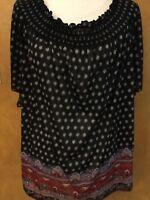 Bobbie Brooks Woman's Boho Style Top NWT Size 3X