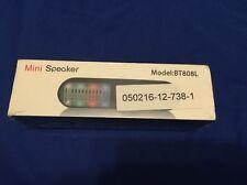Bluetooth Speaker Bt808L Wireless Loud Speakers Led light Car Handsfree Black