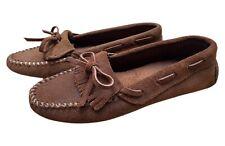 Minnetonka Moccasins 90s Vintage Loafers Kiltie Driving Moccasins - Women's 6M