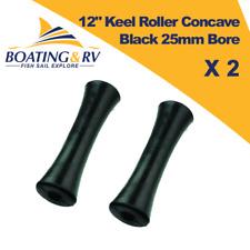 "2 x 12"" Keel Roller Concave Black 25mm Bore - Marine Boat Yacht Jetski Trailer"