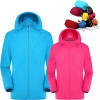 Ultra-Light Rainproof Windbreaker Jacket Breathable Windproof Coat for Women Men