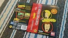 BOX ART ONLY Beavis and Butthead Original Sega Genesis Case Sleeve OEM