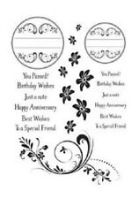 PHIL MARTIN Sentimentally Yours CIRCLE FRAME & FLOURISH COLLECTION A5 Clr Stamp