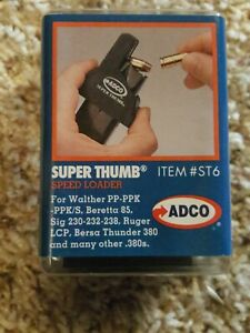 ADCO Super Thumb Speed Loader #ST6 New .380 walther beretta ruger bersa sig etc