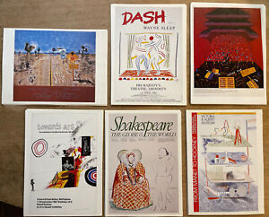 """6 x David Hockney Mini Posters, 14x10"""" B"""