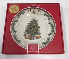Lenox Christmas Platter - Collector Plate 2016 - Belgium Tree $120 New
