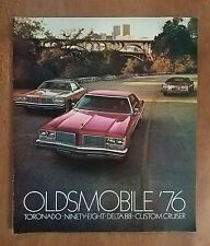 Vintage 1976 Oldsmobile Toronado - Delta 88 - Custom Cruiser Full Color Brochure