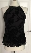 Marks & Spencer Size 8 Black Racer Back Style Silk Blend Floaty Top❤️❤️BRAND NEW