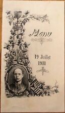 Menu: French 1911 w/Priest - Wine, Sauternes, Medoc, Champagne