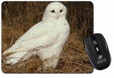 White Barn Owl Computer Mouse Mat Christmas Gift Idea, AB-O67M