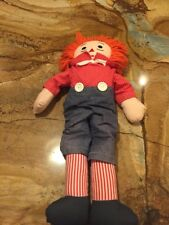 """Vintage 18"""" Tall Rsggedy Ann And Andy Stuffed Doll"""