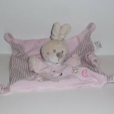Doudou Lapin Rose Nicotoy - Collection ABC
