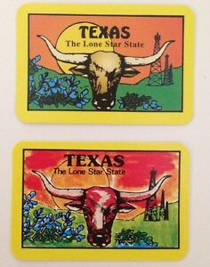 Miniature Vintage Texas State Souvenir Swap Cards (The Lone Star State) USA
