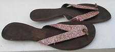 Bertie size 4 (37) pink glitter flip flips