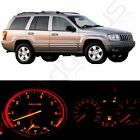 Red Led Kit Instrument Cluster Dash Lights Bulbs For 99-01 Jeep Grand Cherokee