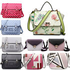 Ladies Vintage PU Leather Briefcase Satchel School Bag Shoulder Messenger Bag