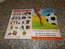 ALBUM CALCIATORI L'ABC DEL CALCIO LA FOLGORE 1966 1967 COMPLETO ORIGINALE NUOVO