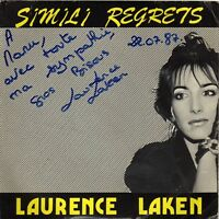 LAURENCE LAKEN SIMILI-REGRETS / SO NICE FRENCH 45 SINGLE DEDICACE