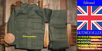 1:6 MINIATURE WW2 WWII OD GREEN USMC US MARINES COMBAT FATIGUES FULL UNIFORM