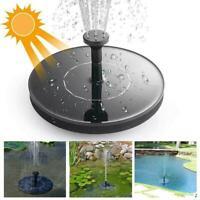 Garden Solar Birdbath Fountain Pump Outdoor Solar Water Floating Panel1 T1Y5