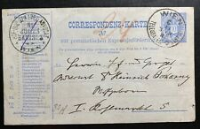 1885 Vienna Austria Pneumatic Postal stationery Postcard Cover Domestic