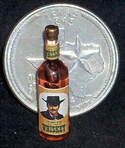 Outlaw Whiskey 1:12 Alcohol Bar Cowboy Western Dollhouse Mini #FA40876