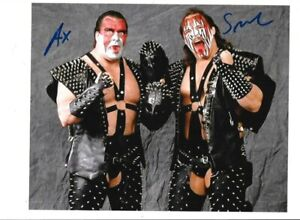 CORPORAL KIRCHNER & AX AND SMASH WRESTLERS 8X10 INCH SIGNED PROMO PHOTOS