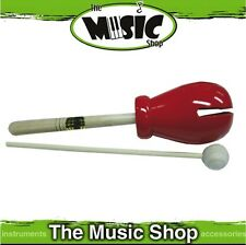New Mano Percussion Tulip Block with Beater - Red Wooden Head - EM343