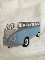 Personalised Embroidered 100% Cotton VW Splitty Camper Van Hand Bath Towel Gift