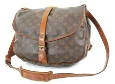 Authentic LOUIS VUITTON Saumur 35 Monogram Crossbody Shoulder Bag Purse #36602