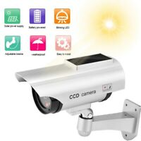 Fake Dummy Security CCTV Camera Waterproof In/Outdoor Surveillance Solar Powered