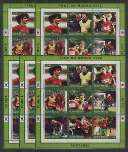 U464. 5x Guinea-Bissau - MNH - Sports - Football - 2001
