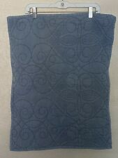 Pottery Barn Washed Blue Cotton Quilted Soft Pearl Blue Standard Sham NEW