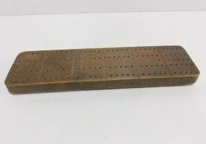 vintage solid wood handmade crib board cribbage board with pegs