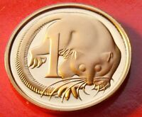 RED ORANGE LUSTEROUS COPPER GEM PROOF 1981 AUSTRALIA 1 Cent w HOLDER,