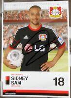 Bayer 04 Leverkusen + Handsignierte Autogrammkarte + Sidney Sam /11