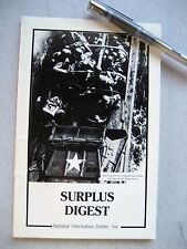 Surplus Digest - National Information Center, 1983, 96p, Soft Cover
