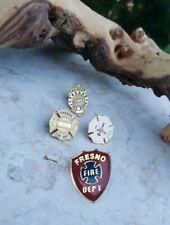 Vintage Fresno California Fire Department Pins badges lot rare